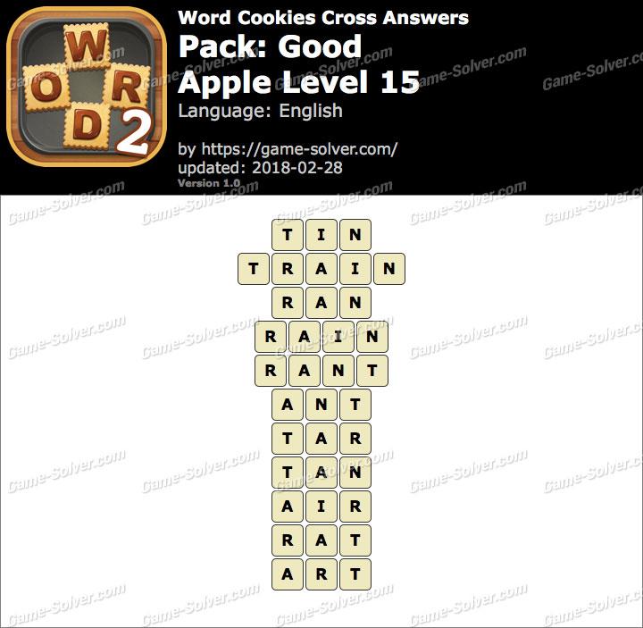 Word Cookies Cross Good-Apple Level 15 Answers