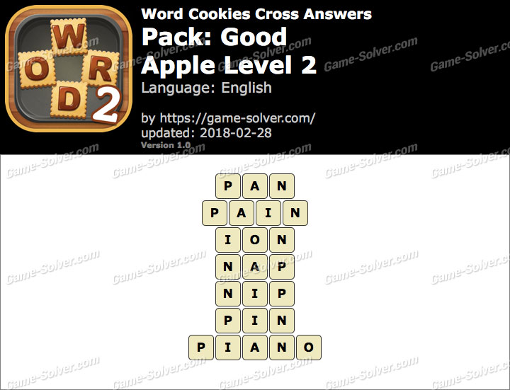 Word Cookies Cross Good-Apple Level 2 Answers