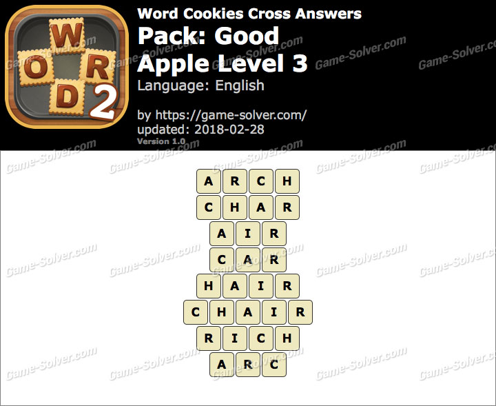 Word Cookies Cross Good-Apple Level 3 Answers