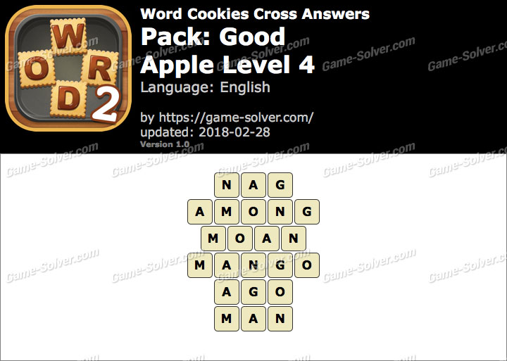 Word Cookies Cross Good-Apple Level 4 Answers