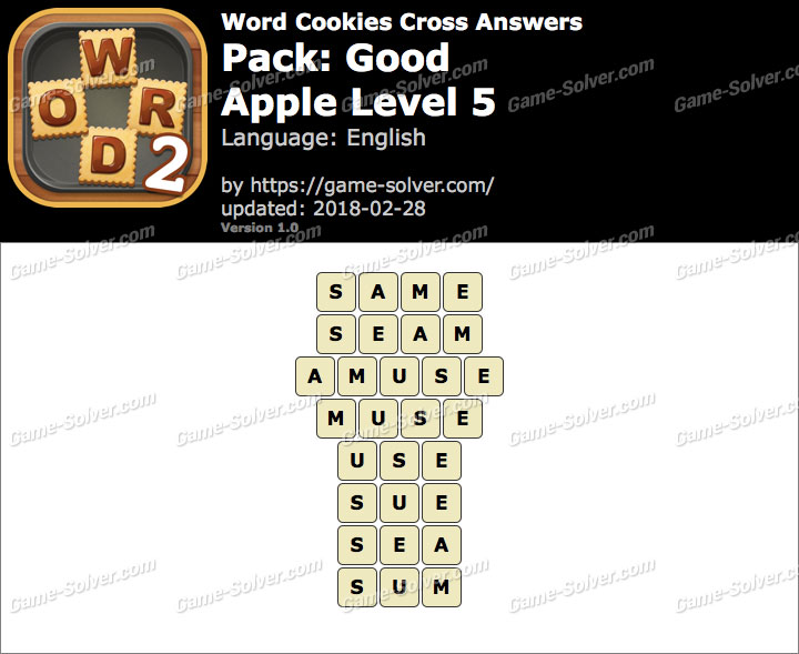 Word Cookies Cross Good-Apple Level 5 Answers