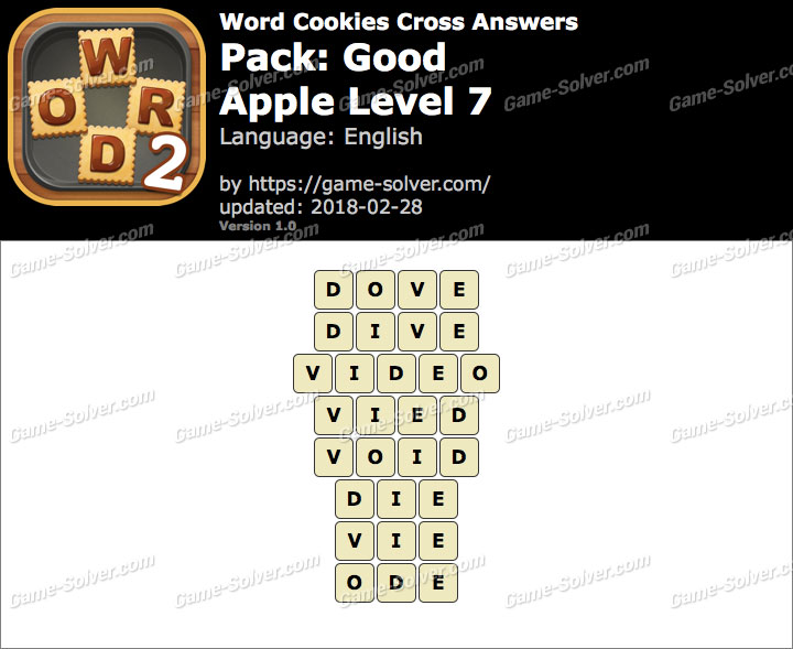 Word Cookies Cross Good-Apple Level 7 Answers