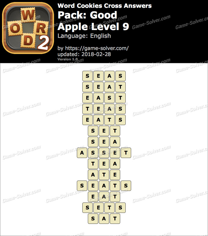 Word Cookies Cross Good-Apple Level 9 Answers