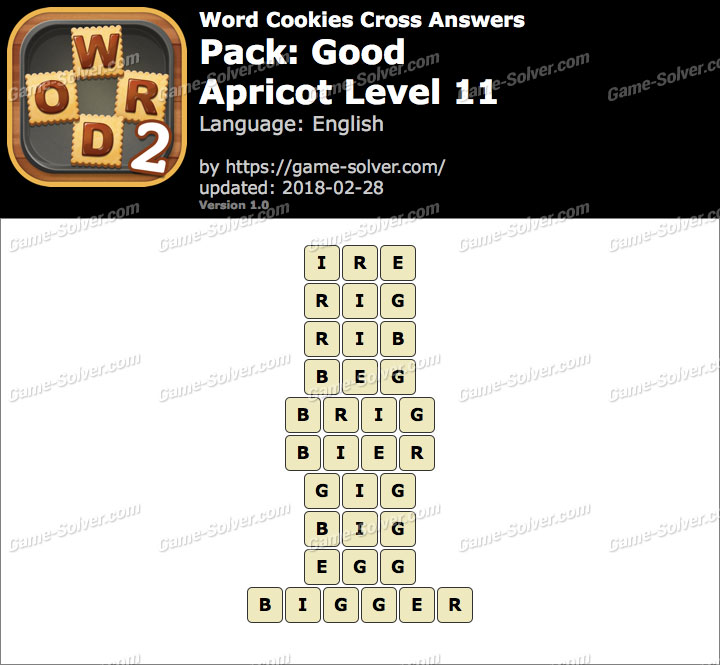 Word Cookies Cross Good-Apricot Level 11 Answers