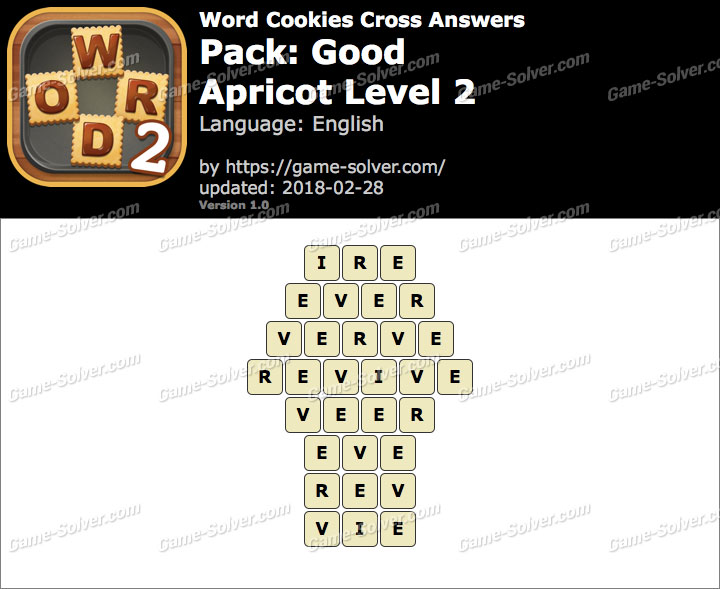 Word Cookies Cross Good-Apricot Level 2 Answers