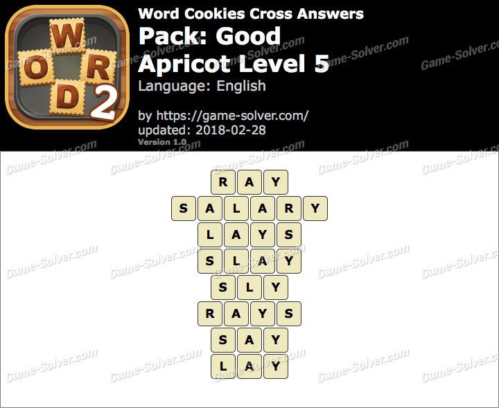 Word Cookies Cross Good-Apricot Level 5 Answers