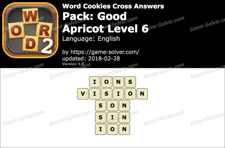 Word Cookies Cross Good-Apricot Level 6 Answers