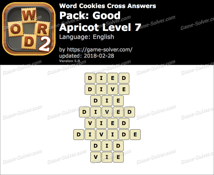 Word Cookies Cross Good-Apricot Level 7 Answers