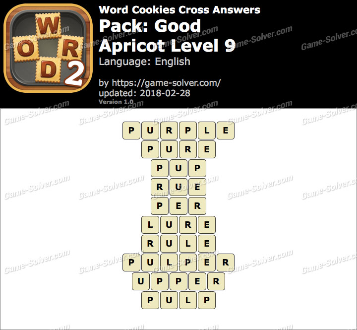Word Cookies Cross Good-Apricot Level 9 Answers