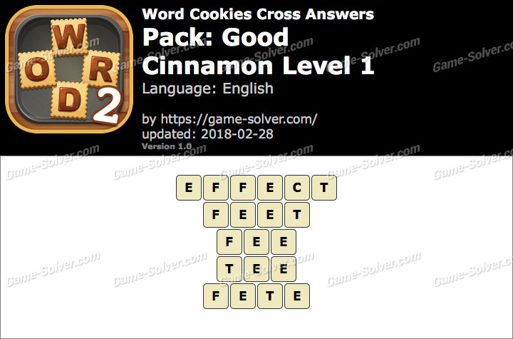 Word Cookies Cross Good-Cinnamon Level 1 Answers