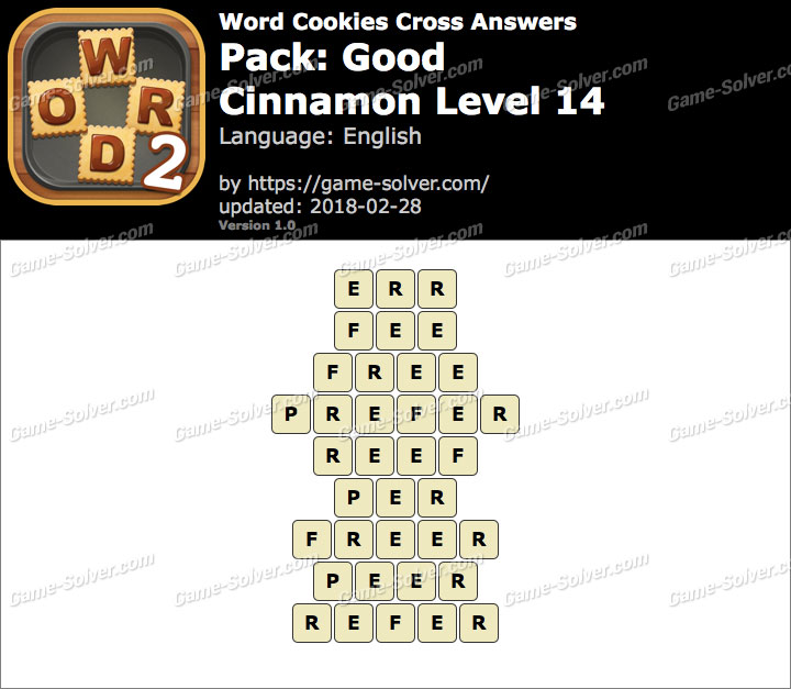 Word Cookies Cross Good-Cinnamon Level 14 Answers