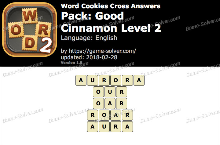 Word Cookies Cross Good-Cinnamon Level 2 Answers