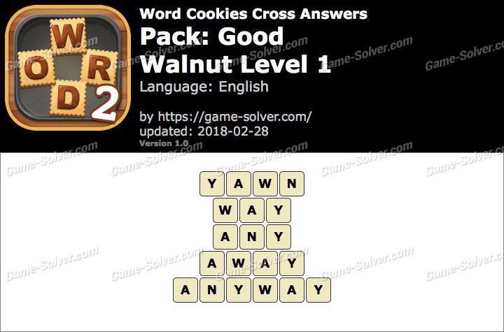 Word Cookies Cross Good-Walnut Level 1 Answers