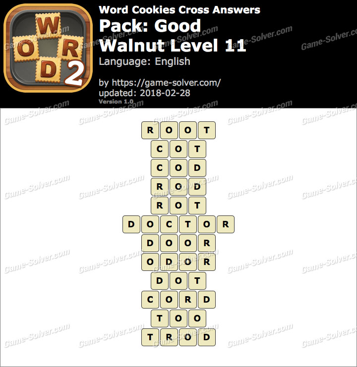 Word Cookies Cross Good-Walnut Level 11 Answers