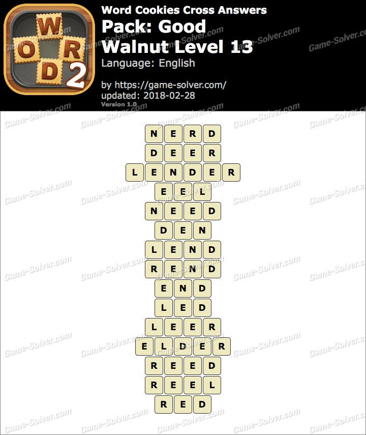Word Cookies Cross Good-Walnut Level 13 Answers