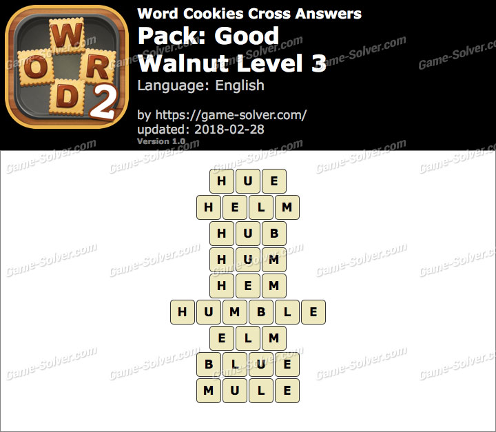 Word Cookies Cross Good-Walnut Level 3 Answers