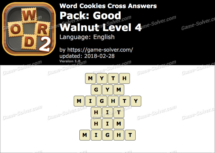 Word Cookies Cross Good-Walnut Level 4 Answers