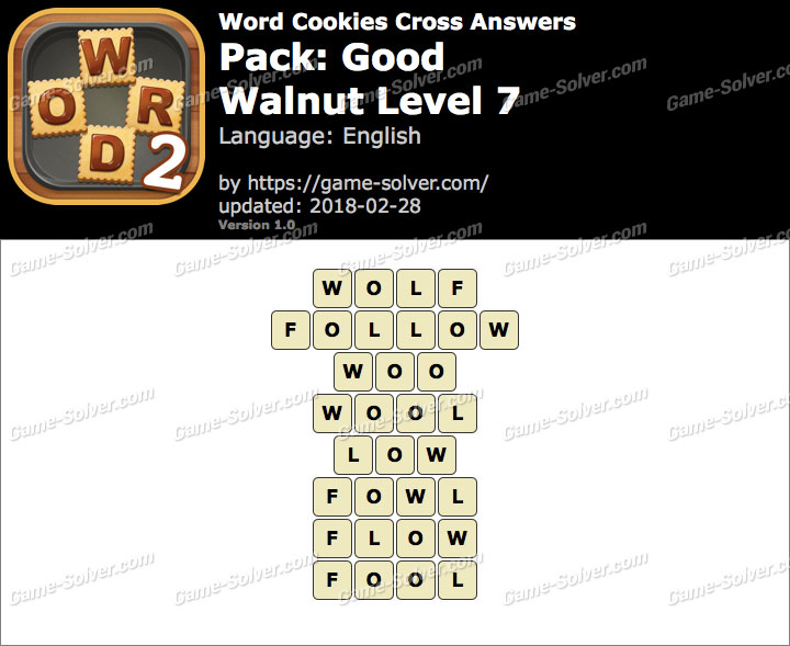 Word Cookies Cross Good-Walnut Level 7 Answers