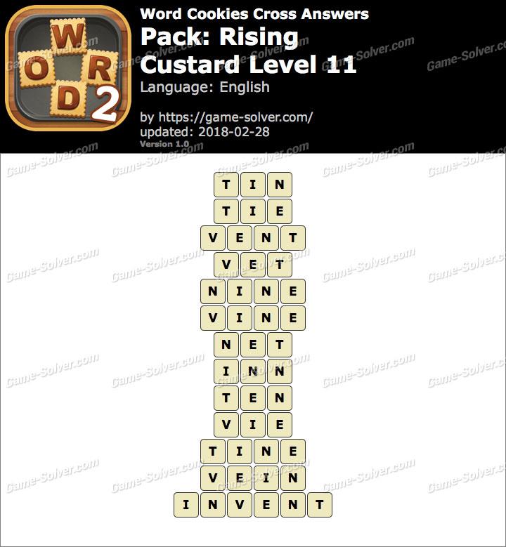 Word Cookies Cross Rising-Custard Level 11 Answers