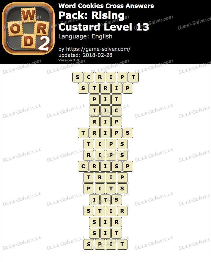 Word Cookies Cross Rising-Custard Level 13 Answers