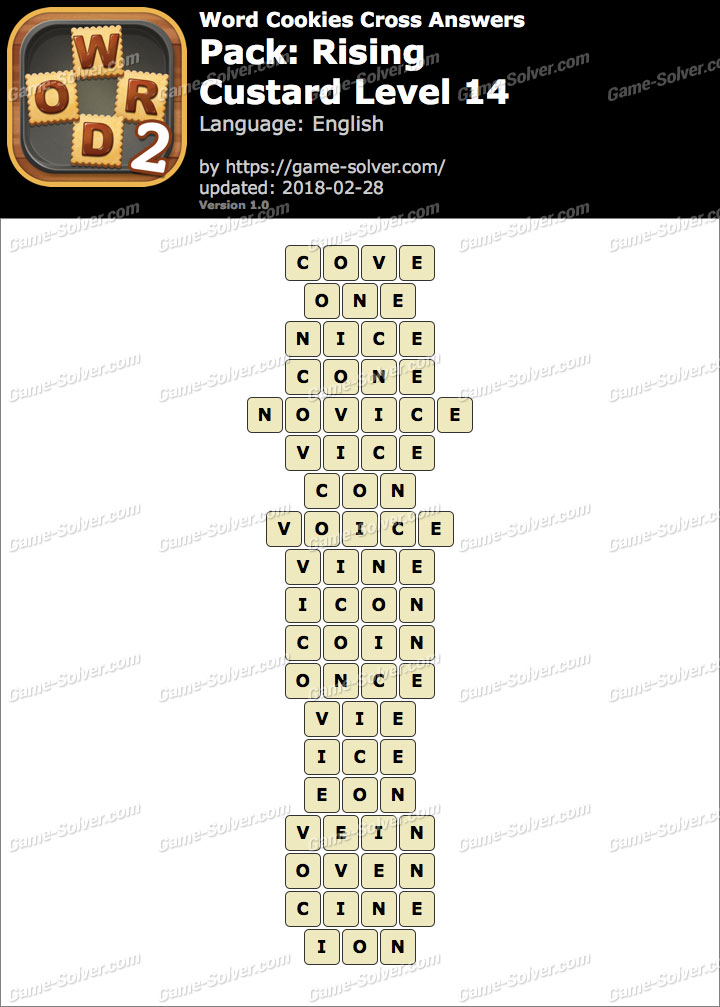 Word Cookies Cross Rising-Custard Level 14 Answers