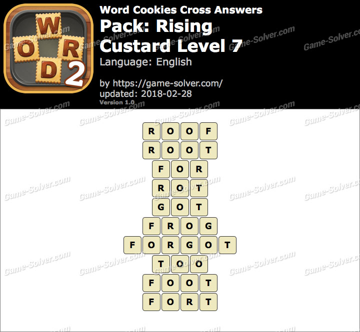 Word Cookies Cross Rising-Custard Level 7 Answers