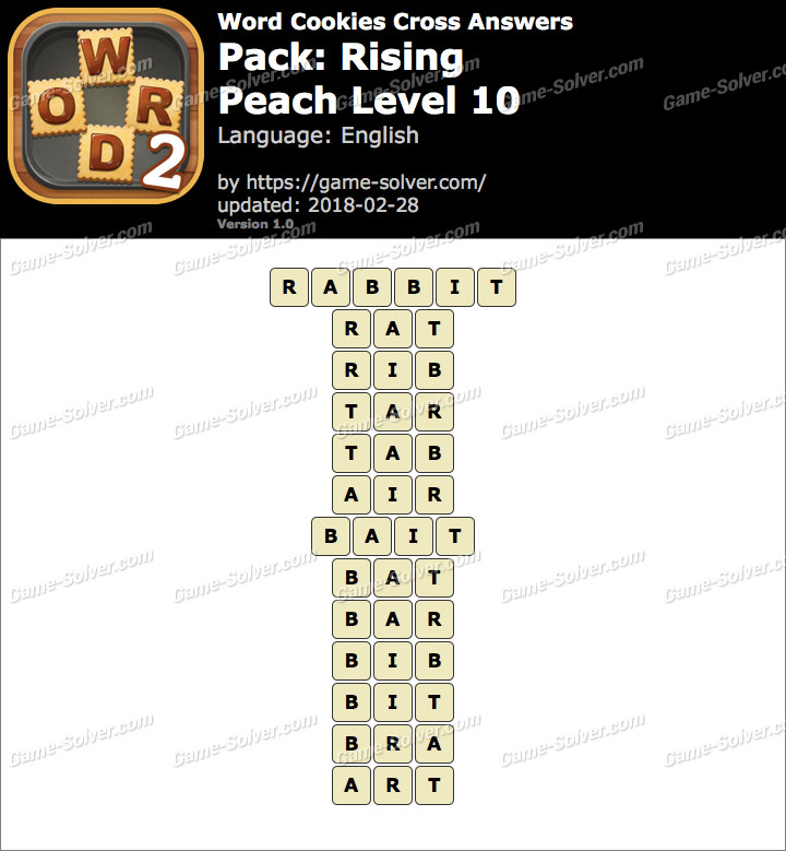 Word Cookies Cross Rising-Peach Level 10 Answers