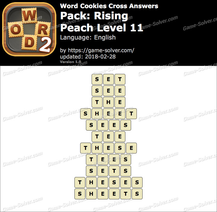 Word Cookies Cross Rising-Peach Level 11 Answers