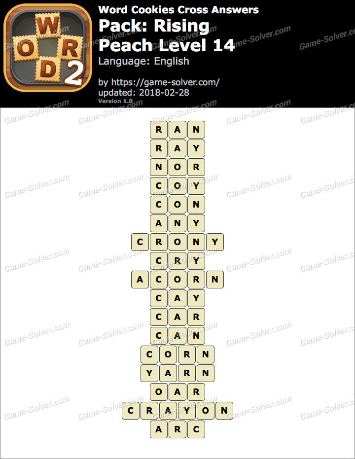 Word Cookies Cross Rising-Peach Level 14 Answers