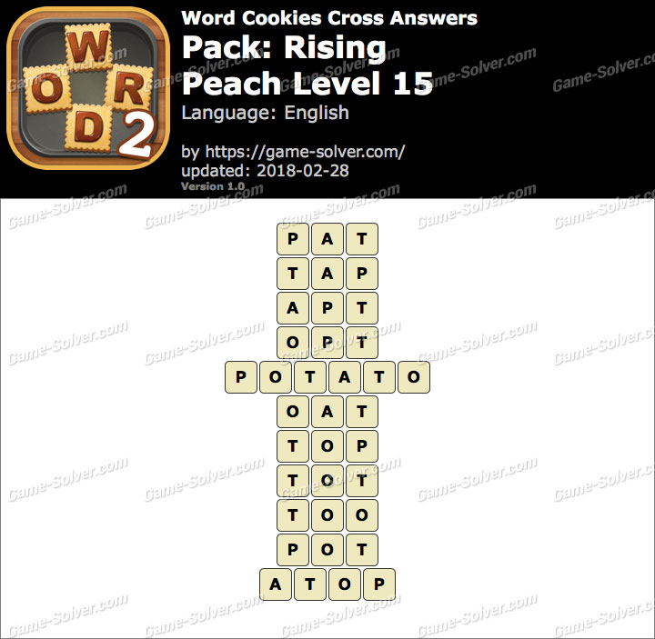 Word Cookies Cross Rising-Peach Level 15 Answers