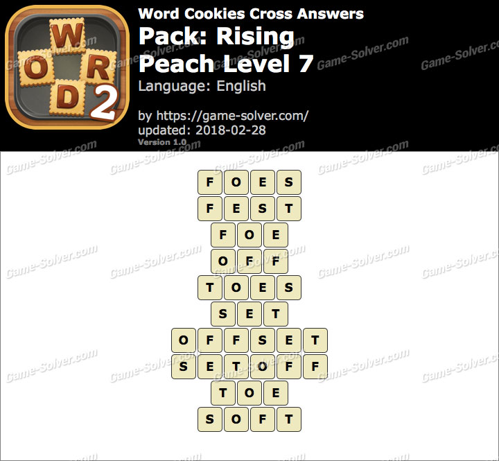 Word Cookies Cross Rising-Peach Level 7 Answers