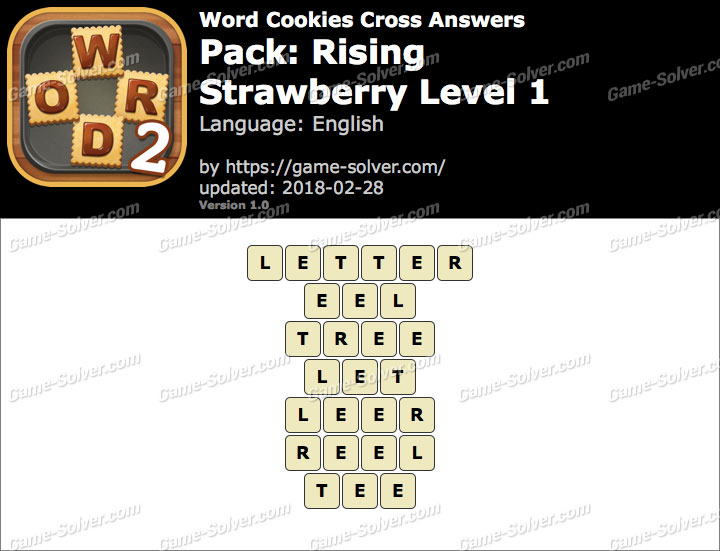 Word Cookies Cross Rising-Strawberry Level 1 Answers