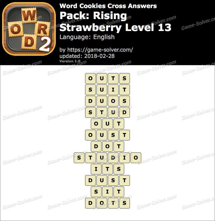 Word Cookies Cross Rising-Strawberry Level 13 Answers