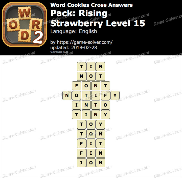 Word Cookies Cross Rising-Strawberry Level 15 Answers