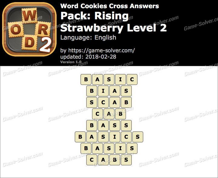 Word Cookies Cross Rising-Strawberry Level 2 Answers