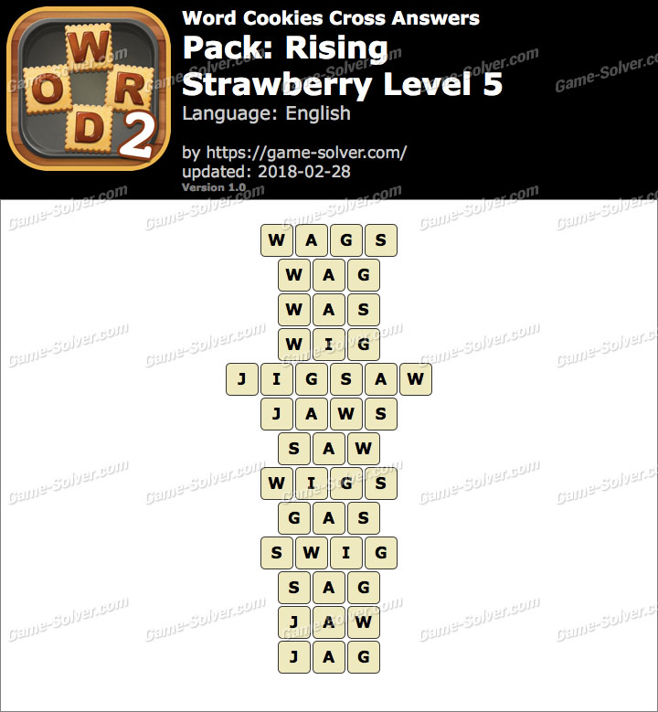Word Cookies Cross Rising-Strawberry Level 5 Answers
