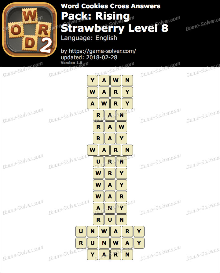 Word Cookies Cross Rising-Strawberry Level 8 Answers