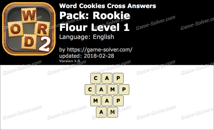 Word Cookies Cross Rookie-Flour Level 1 Answers