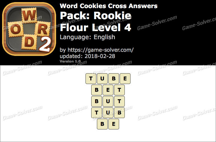 Word Cookies Cross Rookie-Flour Level 4 Answers