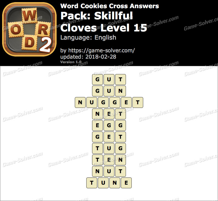 Word Cookies Cross Skillful-Cloves Level 15 Answers