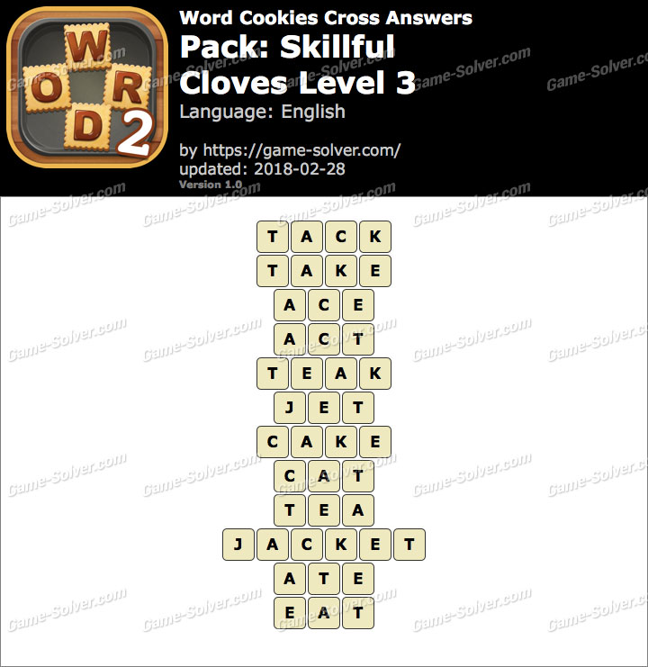 Word Cookies Cross Skillful-Cloves Level 3 Answers