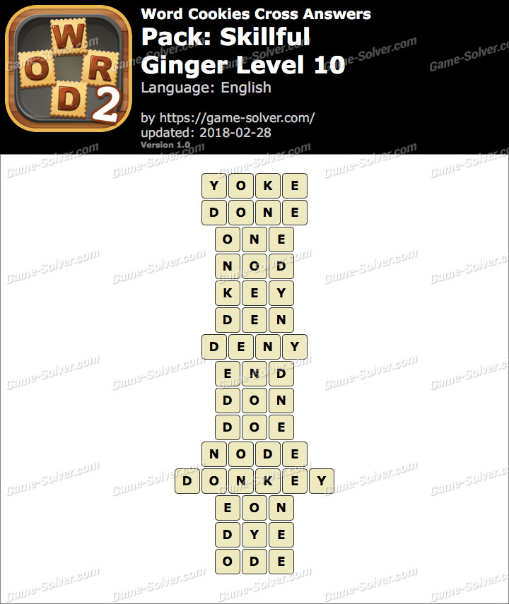 Word Cookies Cross Skillful-Ginger Level 10 Answers