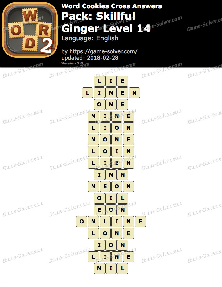 Word Cookies Cross Skillful-Ginger Level 14 Answers