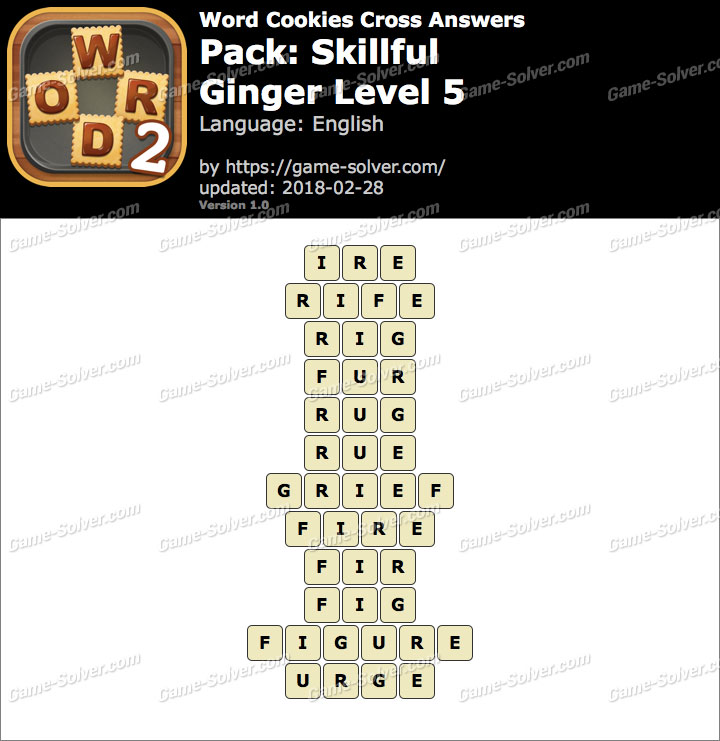 Word Cookies Cross Skillful-Ginger Level 5 Answers