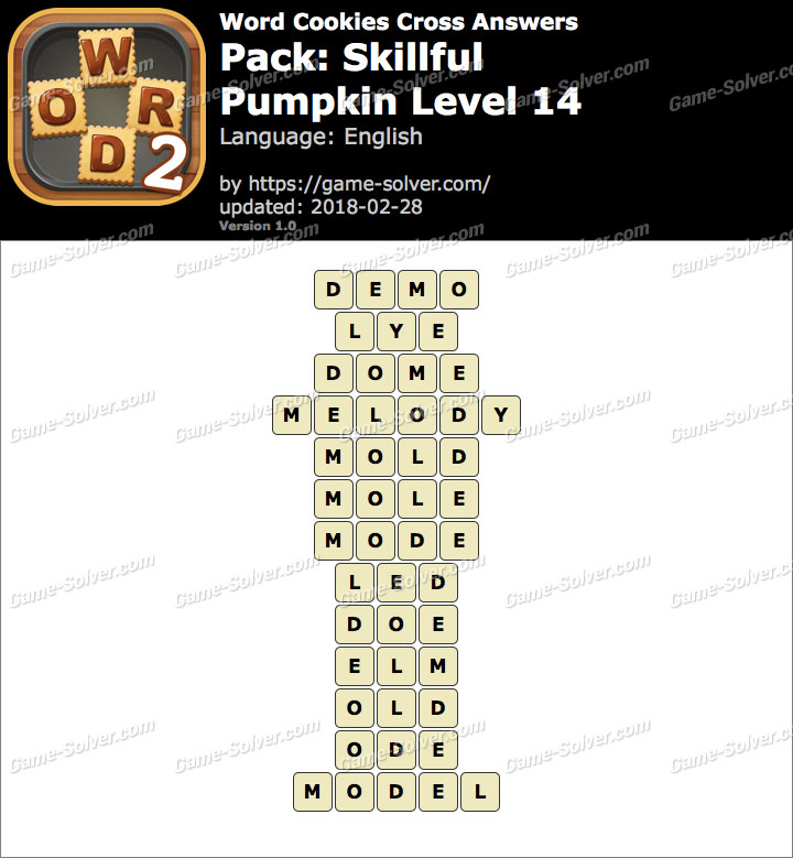Word Cookies Cross Skillful-Pumpkin Level 14 Answers