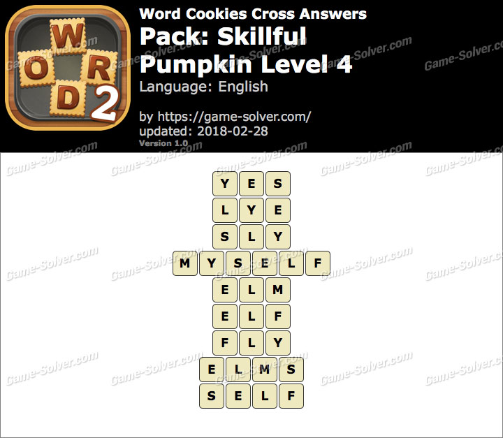 Word Cookies Cross Skillful-Pumpkin Level 4 Answers