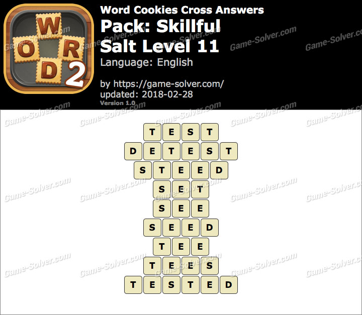 Word Cookies Cross Skillful-Salt Level 11 Answers