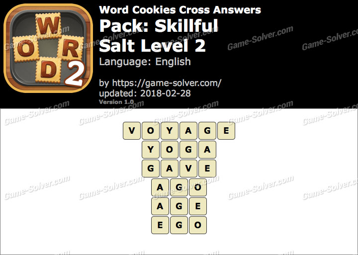 Word Cookies Cross Skillful-Salt Level 2 Answers