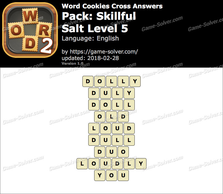 Word Cookies Cross Skillful-Salt Level 5 Answers