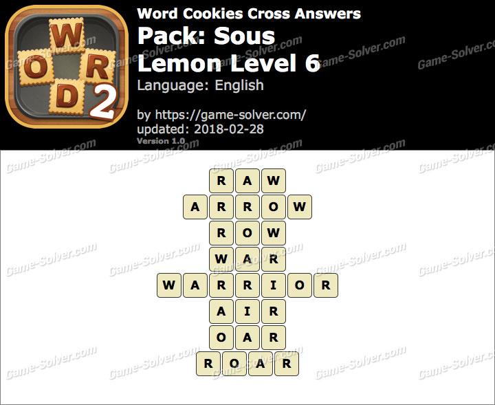 Word Cookies Cross Sous-Lemon Level 6 Answers